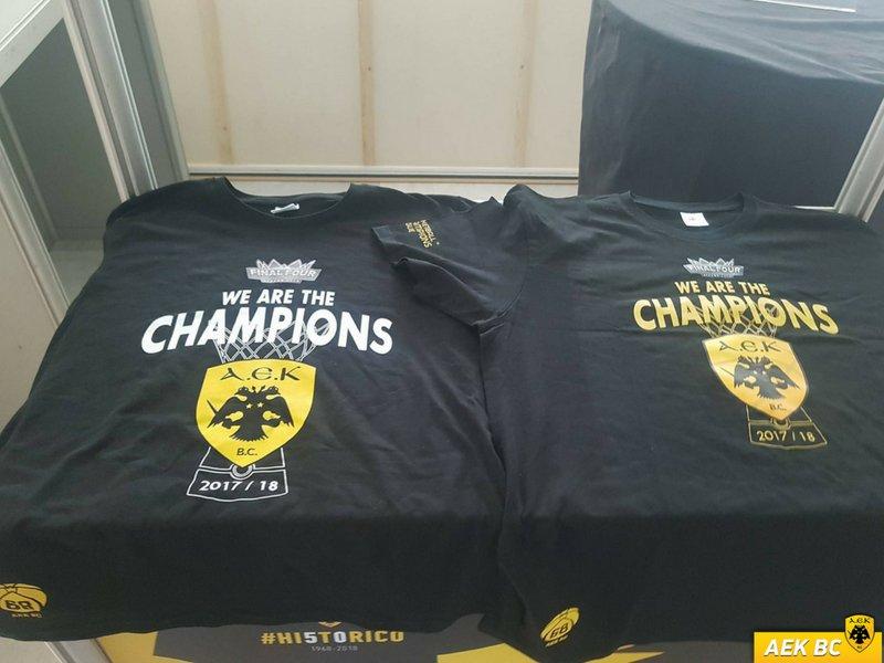 ΑΕΚ : Τα συλλεκτικά t-shirt του Champions League και σε μαύρο χρώμα | to10.gr