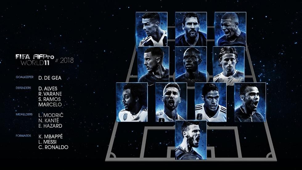 FIFA Awards : Αυτή είναι η κορυφαία ενδεκάδα της χρονιάς | to10.gr