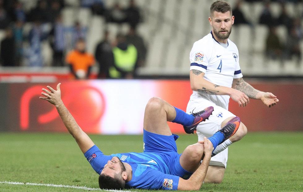 Εθνική Ελλάδας : Νοκ-άουτ από το ματς με την Εσθονία ο Μανωλάς   to10.gr