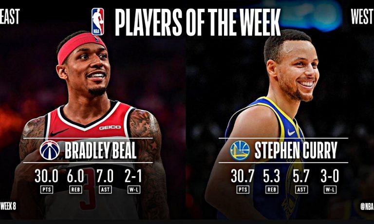 Κάρι και Μπιλ οι καλύτεροι της εβδομάδας στο NBA | to10.gr