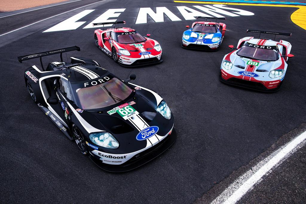 Εορταστικά αγωνιστικά χρώματα από τη Ford στον αγώνα Λε Μαν | to10.gr
