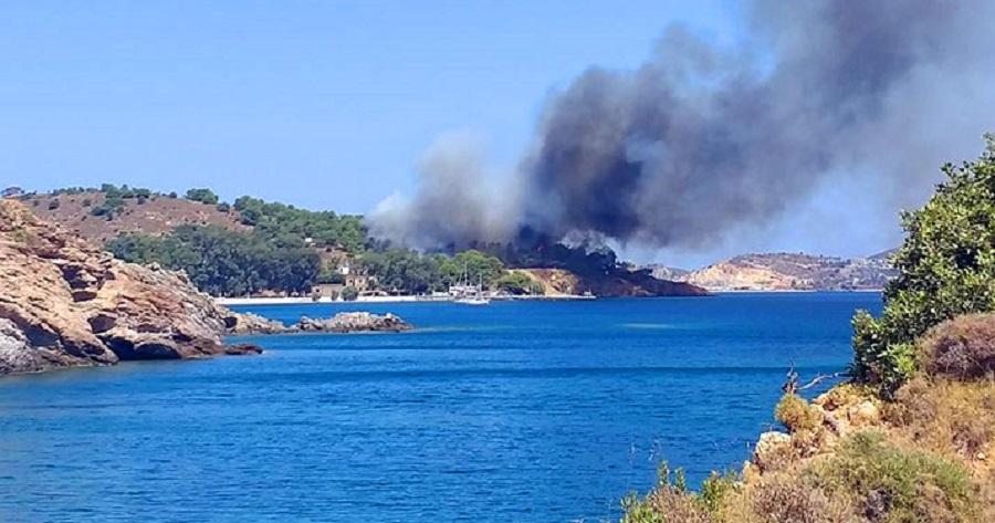 Συναγερμός στην Πυροσβεστική: Πυρκαγιά στη Λέρο – Απομακρύνθηκαν λουόμενοι | to10.gr