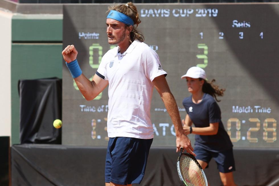 Davis Cup: Μεγάλη εμφάνιση του Τσιτσιπά, κράτησε «ζωντανή» την Ελλάδα   to10.gr