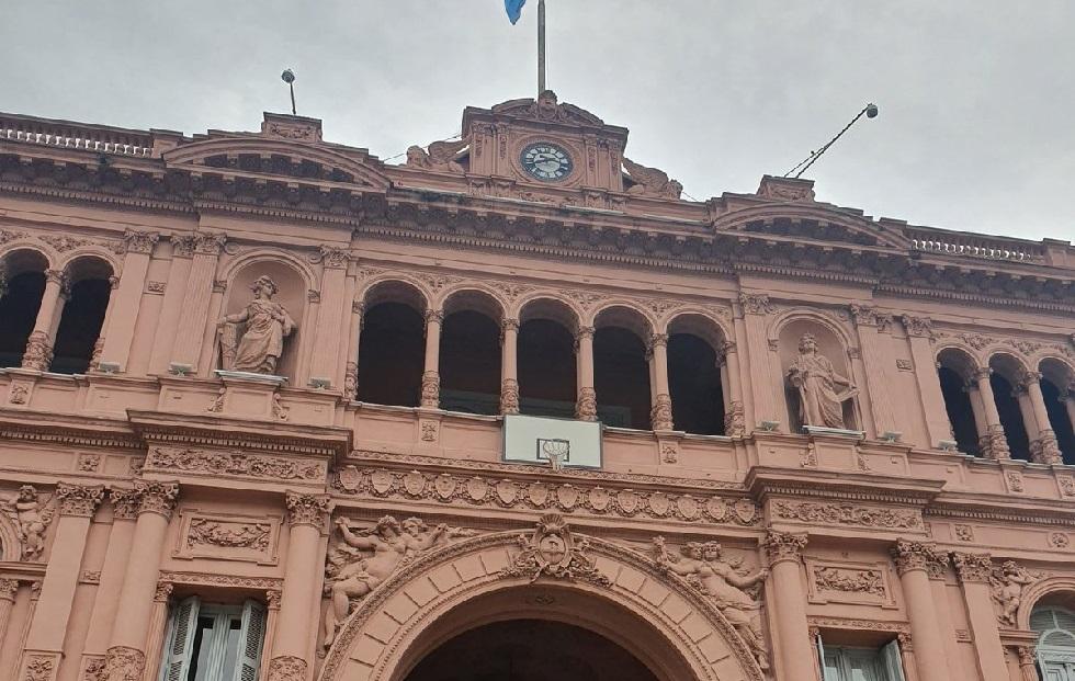 Τοποθέτησαν μπασκέτα στο Προεδρικό Μέγαρο της Αργεντινής (pic) | to10.gr