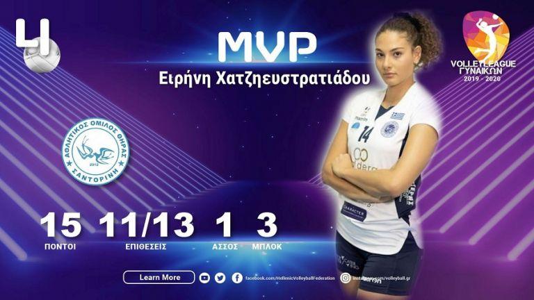 Η Ειρήνη Χατζηευστρατιάδου MVP της 4ης αγωνιστικής | to10.gr
