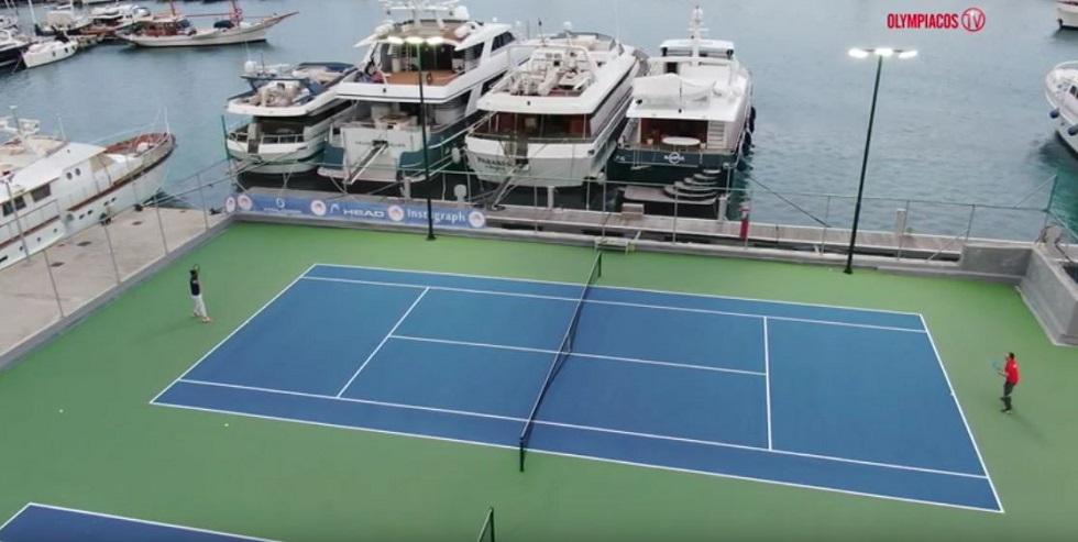 Ολυμπιακός: Τένις με φόντο τη θάλασσα του Πειραιά (vid+pics) | to10.gr