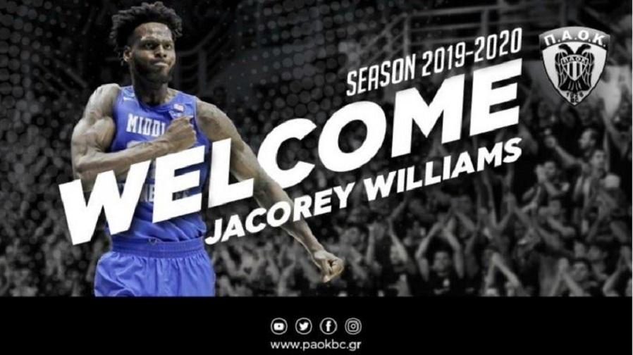 Ανακοίνωσε Τζακόρεϊ Ουίλιαμς ο ΠΑΟΚ   to10.gr