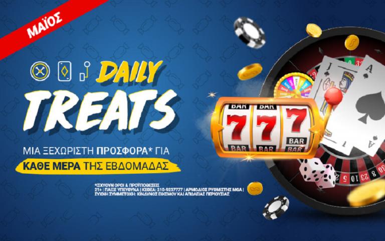 Daily Treats: Σούπερ προσφορές* στο Casino του Stoiximan.gr κάθε μέρα!   to10.gr