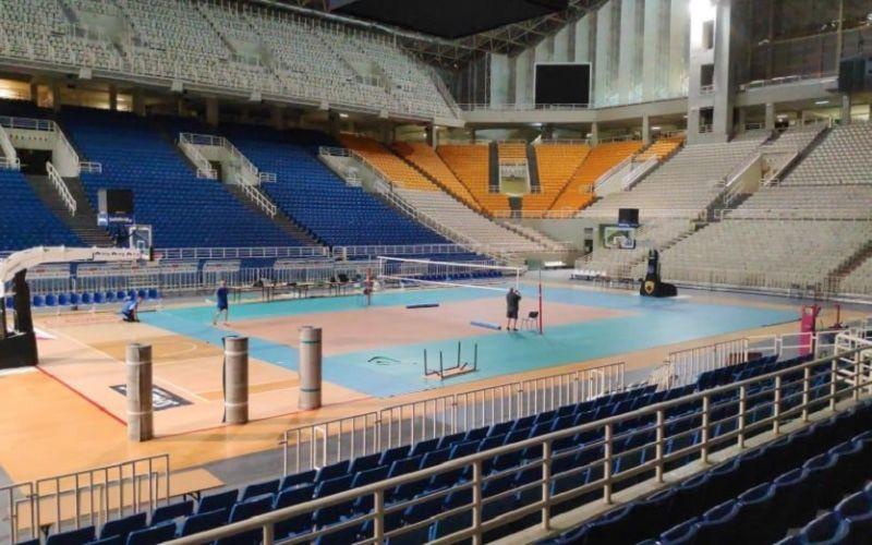 Ξεκίνησαν οι ετοιμασίες στο ΟΑΚΑ για το Final 4 της Volleyleague (pics)