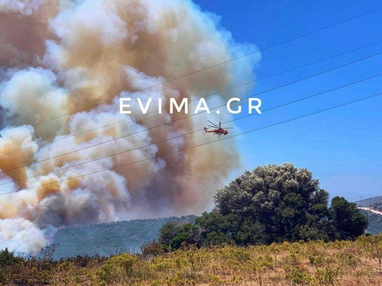 Εύβοια : Ανεξέλεγκτη η φωτιά στους Ραπταίους – Επιχειρούν και εναέρια μέσα | to10.gr