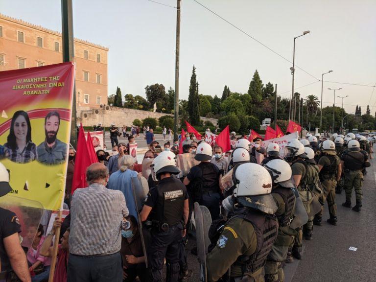 Σύνταγμα : Ενταση σε διαδήλωση υπέρ των απεργών πείνας στην Τουρκία | to10.gr