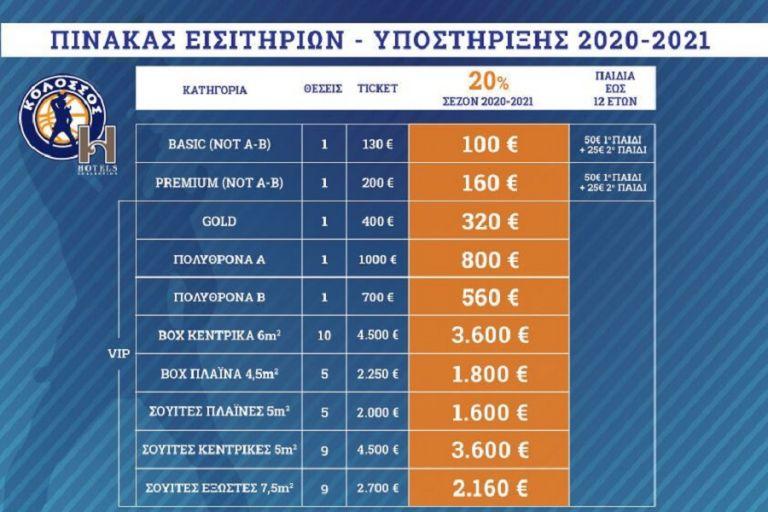 Κολοσσός Ρόδου : Ανακοίνωσε εισιτήρια διαρκείας-στήριξης | to10.gr