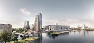 LOLA FCR feyenoord city masterplan oma render stadium view waterfront e1571845191953 1560x720 1