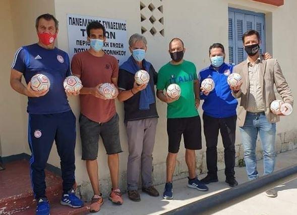 Ολυμπιακός: Δωρεά ειδικών μπαλών στον Πανελλήνιο Σύνδεσμο Τυφλών Καλαμάτας (pic) | to10.gr