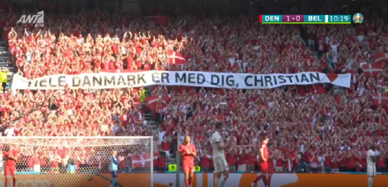 Ανατριχίλα στο Δανία – Βέλγιο: Διακοπή στο 10′ για να χειροκροτηθεί ο Έρικσεν (vid) | to10.gr