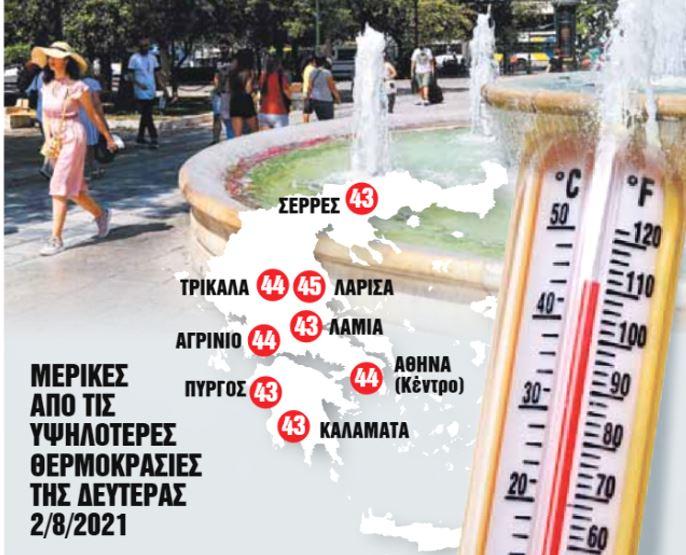 Καύσωνας που ξυπνά μνήμες του 1987 – Ποιες περιοχές θα καούν | to10.gr