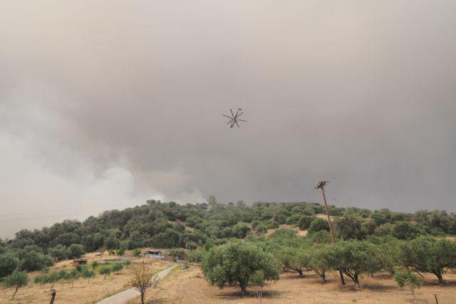 Σε κατάσταση εκτάκτου ανάγκης η Λίμνη Εύβοιας – Στα 100 μέτρα από τις Κεχριές οι φλόγες   to10.gr