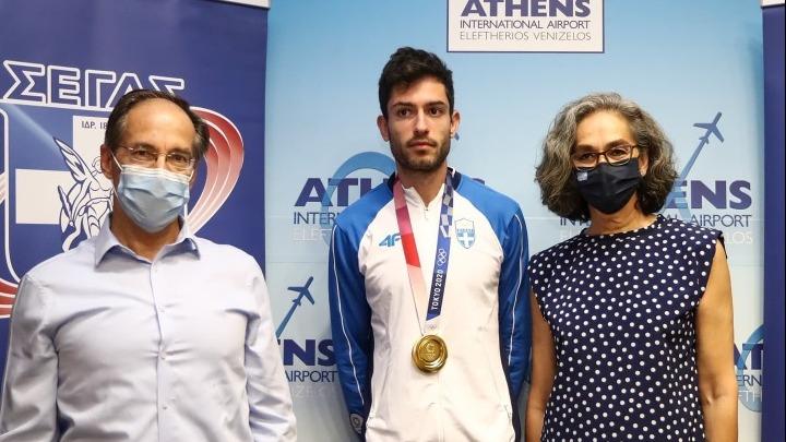 Στην Αθήνα ο χρυσός Ολυμπιονίκης, Μίλτος Τεντόγλου   to10.gr